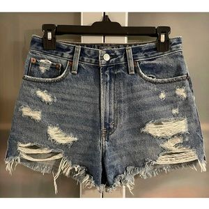 Abercrombie & Fitch High Rise Denim Shorts